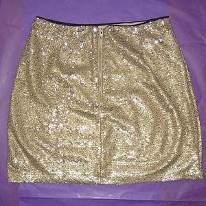 Forever 21 Skirts - 🔥 Shimmery Gold Mini 🔥